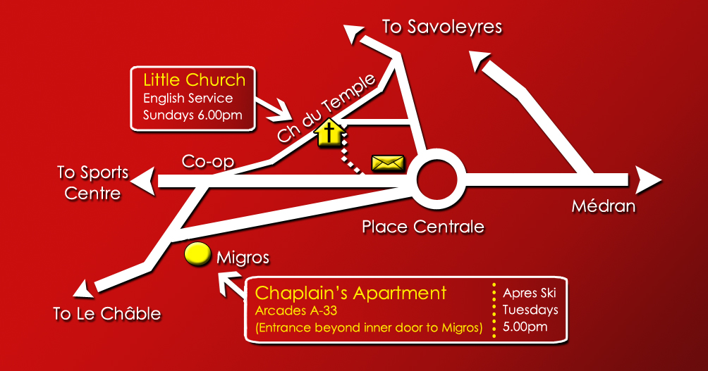 Verbier Chapel Map - Chapel 2 with background
